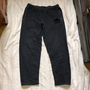 Black and White spec roots pants